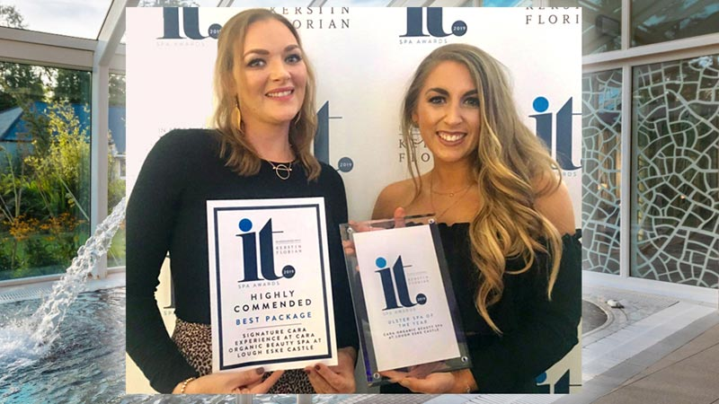 Cara Organic Beauty Spa, Lough Eske Castle - Ulster Spa of the Year